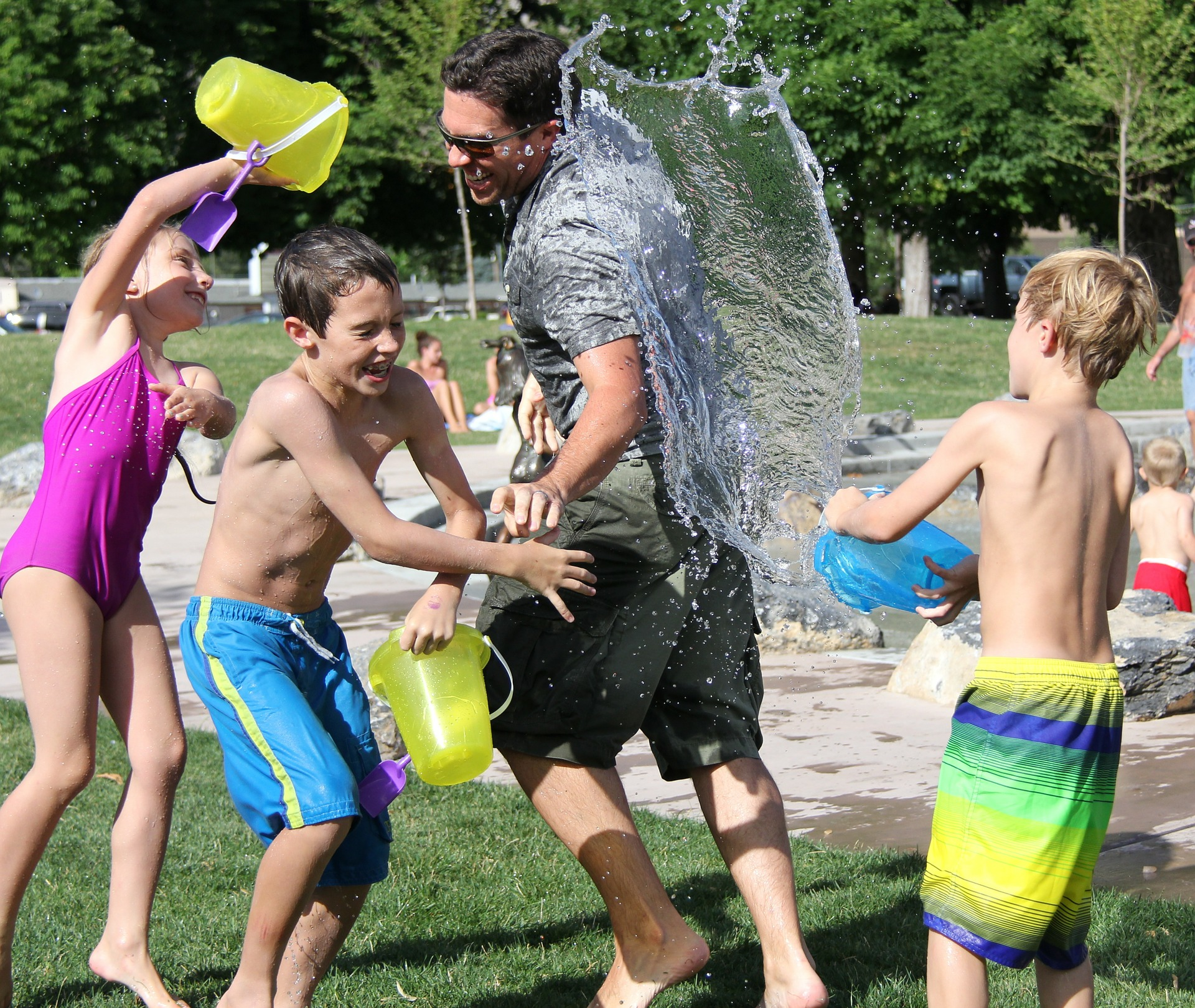 Water Fight at a Campground