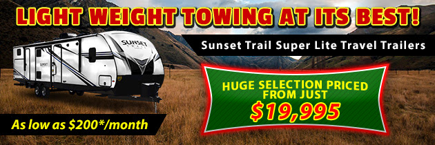 Sunset Trail travel trailers
