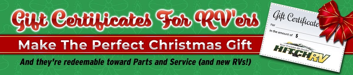 Christmas gift certificates from Hitch RV