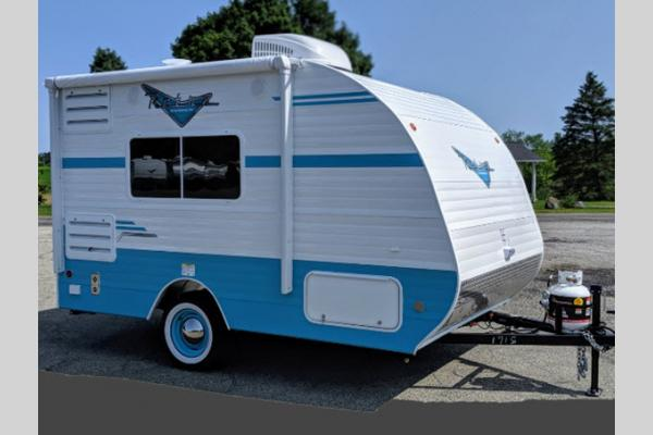 Riverside Retro Travel Trailer Exterior