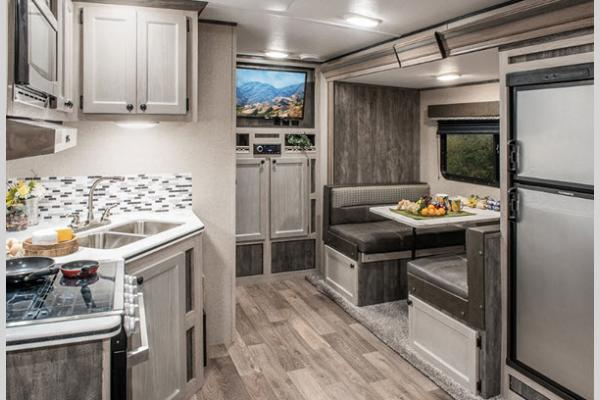 Riverside Retro Travel Trailer Interior Gray